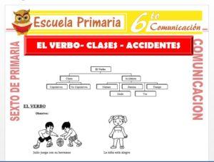 Modelo de la Ficha de Clases y Accidentes del Verbo para Sexto de Primaria