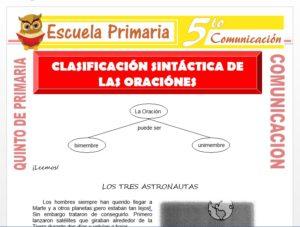 Modelo de la Ficha de Clasificación Sintáctica de las Oraciones para Quinto de Primaria