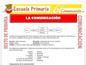 Modelo de la Ficha de Componentes de la Comunicación para Sexto de Primaria