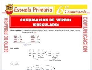 Modelo de la Ficha de Conjugacion de Verbos Irregulares para Sexto de Primaria