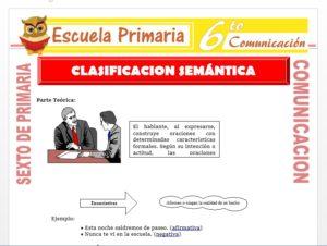 Modelo de la Ficha de Definición de Clasificación Semántica para Sexto de Primaria