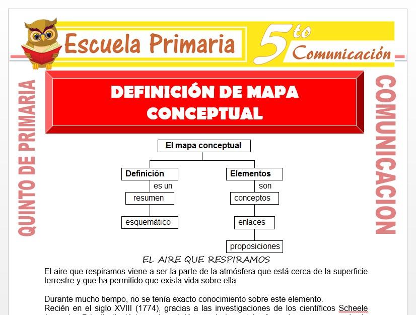 Modelo de la Ficha de Definición de Mapa Conceptual para Quinto de Primaria