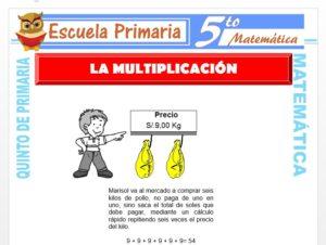 Modelo de la Ficha de Definición de Multiplicación para Quinto de Primaria