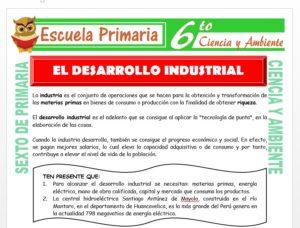 Modelo de la Ficha de El Desarrollo Industrial para Sexto de Primaria