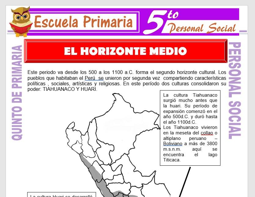 Modelo de la Ficha de El Horizonte Medio para Quinto de Primaria