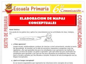 Modelo de la Ficha de Elaboración de Mapas Conceptuales para Sexto de Primaria