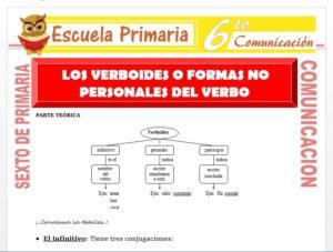 Modelo de la Ficha de Formas no Personales del Verbo para Sexto de Primaria
