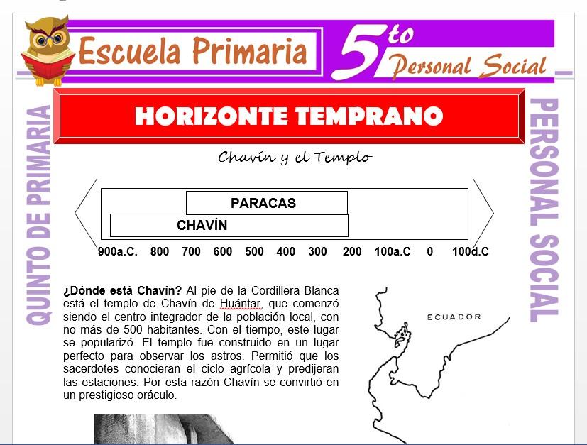 Modelo de la Ficha de Horizonte Temprano para Quinto de Primaria