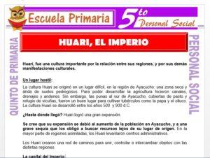 Modelo de la Ficha de Huari El Imperio para Quinto de Primaria