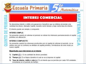 Modelo de la Ficha de Interés Comercial para Quinto de Primaria