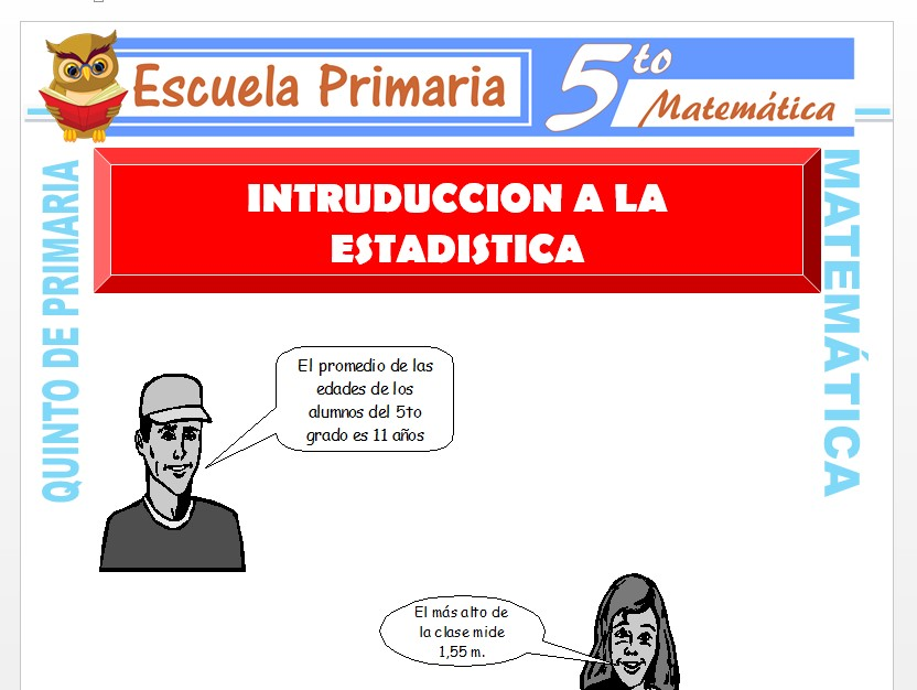Modelo de la Ficha de Introducción a la Estadística para Quinto de Primaria