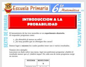 Modelo de la Ficha de Introducción a la Probabilidad para Sexto de Primaria