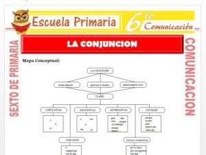 Modelo de la Ficha de La Conjuncion para Sexto de Primaria