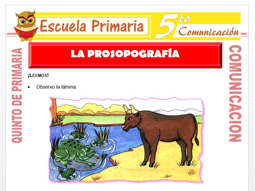 Modelo de la Ficha de La Prosopografía para Quinto de Primaria