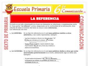 Modelo de la Ficha de La Referencia para Sexto de Primaria