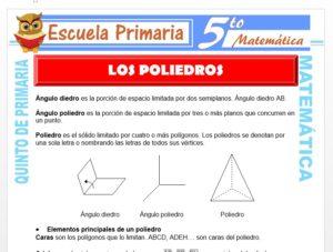 Modelo de la Ficha de Los Poliedros para Quinto de Primaria
