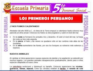 Modelo de la Ficha de Los Primeros Peruanos para Quinto de Primaria