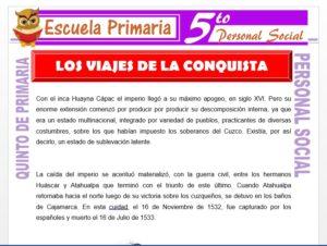 Modelo de la Ficha de Los Viajes de la Conquista para Quinto de Primaria