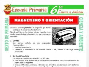 Modelo de la Ficha de Magnetismo y Orientación para Sexto de Primaria