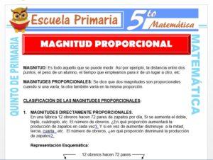 Modelo de la Ficha de Magnitud Proporcional para Quinto de Primaria