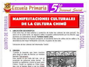 Modelo de la Ficha de Manifestaciones Culturales de la Cultura Chimú para Quinto de Primaria