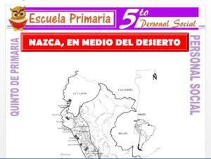 Modelo de la Ficha de Nazca en Medio del Desierto para Quinto de Primaria