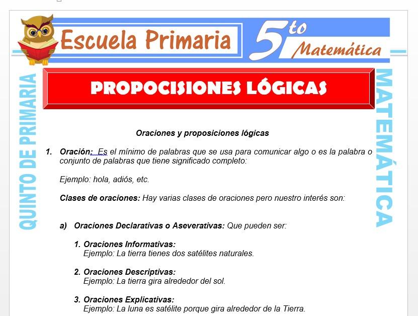Modelo de la Ficha de Operaciones y Proporciones Lógicas para Quinto de Primaria
