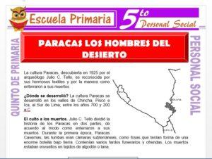 Modelo de la Ficha de Paracas los Hombres del Desierto para Quinto de Primaria