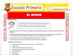 Modelo de la Ficha de Partes del Oficio para Sexto de Primaria