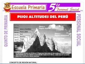 Modelo de la Ficha de Pisos Altitudinales del Perú para Quinto de Primaria