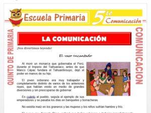 Modelo de la Ficha de Proceso de la Comunicación para Quinto de Primaria