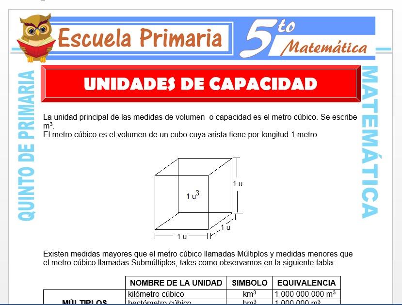 Modelo de la Ficha de Unidad de Capacidad para Quinto de Primaria