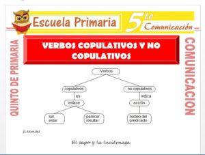 Modelo de la Ficha de Verbos Copulativos y No Copulativos para Quinto de Primaria