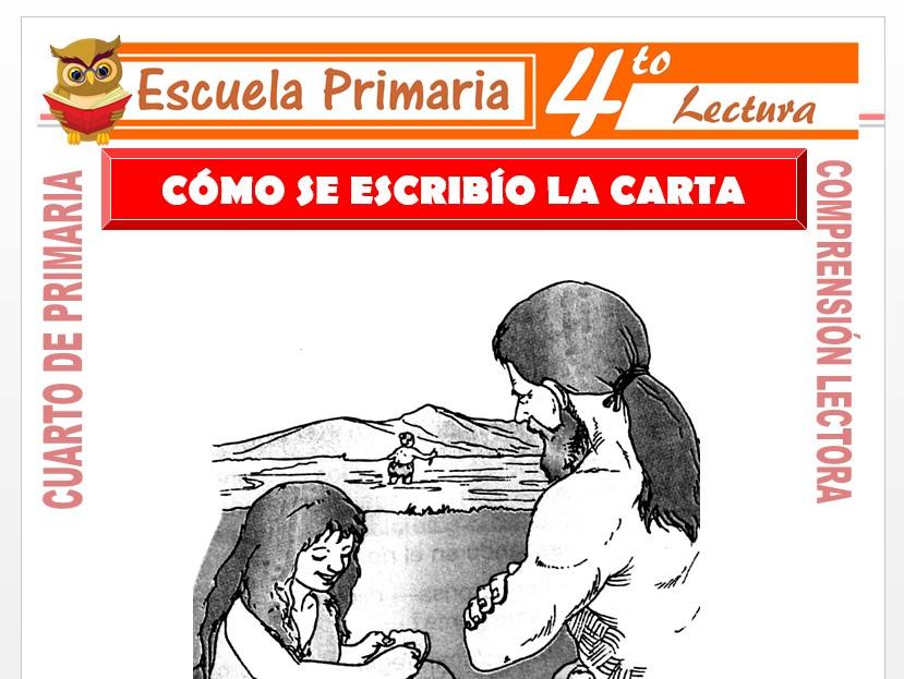 Modelo de la Ficha de Cómo se Escribió para Cuarto de Primaria