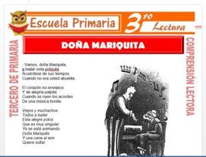Modelo de la Ficha de Doña Mariquita para Tercero de Primaria