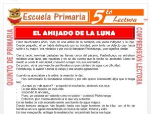 Modelo de la Ficha de El Ahijado de la Luna para Quinto de Primaria