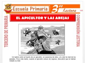 Modelo de la Ficha de El Apicultor y las Abejas para Tercero de Primaria