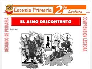 Modelo de la Ficha de El Asno Descontento para Segundo de Primaria