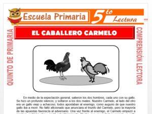 Modelo de la Ficha de El Caballero Carmelo para Quinto de Primaria