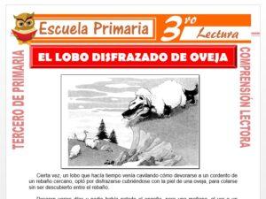 Modelo de la Ficha de El Lobo Disfrazado De Oveja para Tercero de Primaria