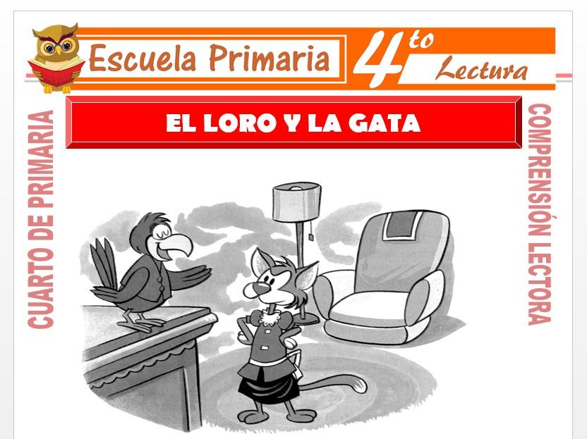 Modelo de la Ficha de El Loro y La Gata para Cuarto de Primaria