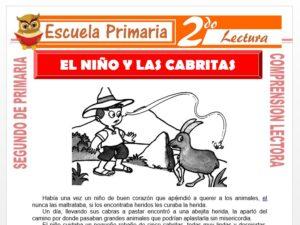 Modelo de la Ficha de El Niño, La Abejita y Las Cabritas para Segundo de Primaria