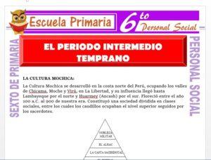 Modelo de la Ficha de El Periodo Intermedio Temprano para Sexto de Primaria