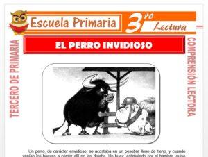 Modelo de la Ficha de El Perro Envidioso para Tercero de Primaria