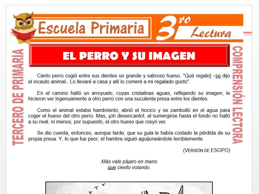 Modelo de la Ficha de El Perro y su Imagen para Tercero de Primaria