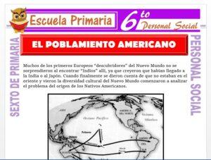 Modelo de la Ficha de El Poblamiento Americano para Sexto de Primaria
