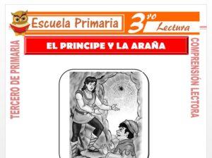 Modelo de la Ficha de El Príncipe y La Araña para Tercero de Primaria