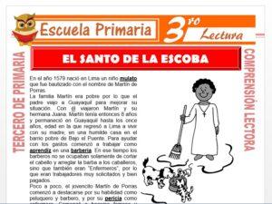 Modelo de la Ficha de El Santo de la Escoba para Tercero de Primaria