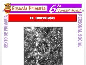 Modelo de la Ficha de El Universo para Sexto de Primaria