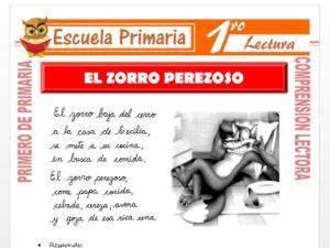 Modelo de la Ficha de El zorro Perezoso para Primero de Primaria
